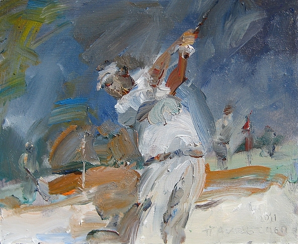 Pascalis Painting - Swinging Off The Sand by Paskalis Anastasi