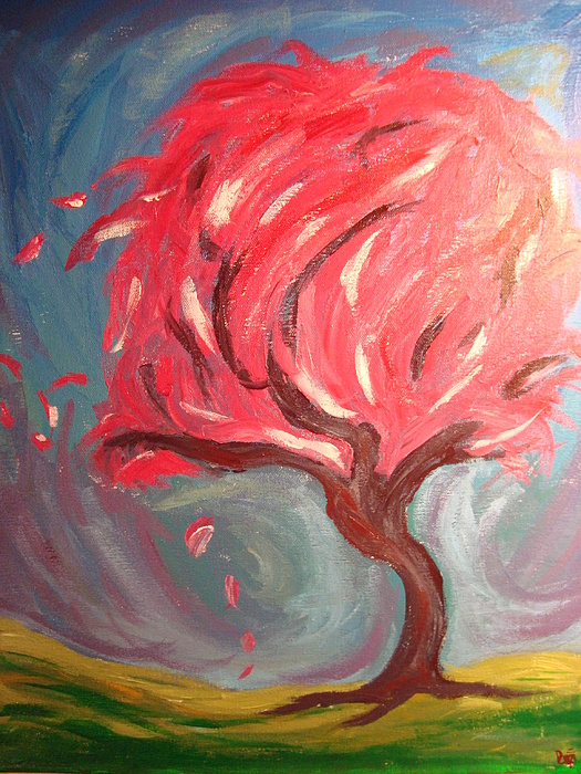 Tree Painting - Swirling Waters Of My Mind by Desiree Brusseau