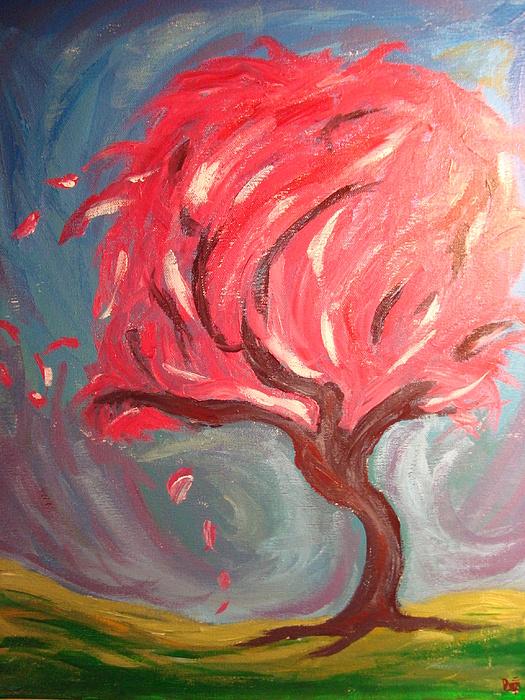 Tree Painting - Swirling Waters Of My Mind by Desiree Brusseau
