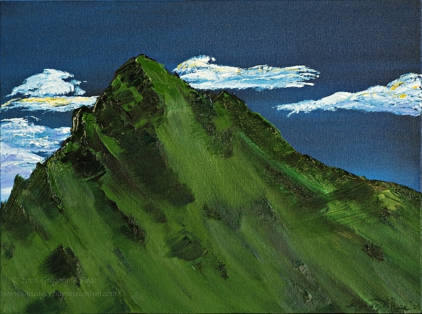 Switzerland Painting - Swiss Alp by Gregory Allen Page