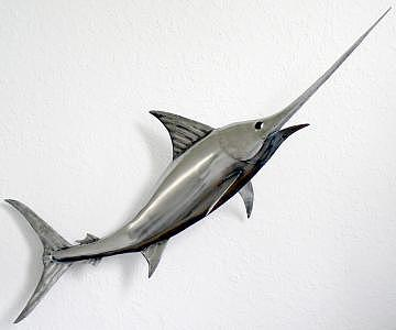 Metal Sculpture - Swordfish 107 by Stuart Peterman