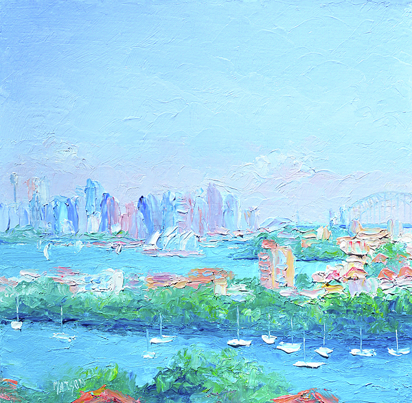 Sydney Harbour Painting - Sydney Harbour Impression by Jan Matson