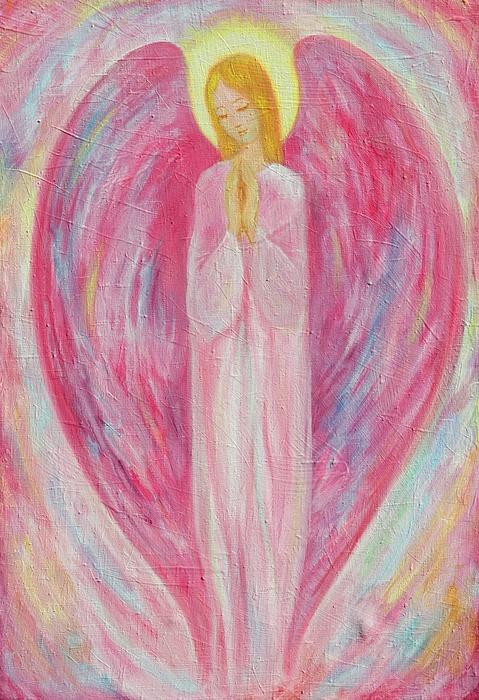 Pink Painting - Sympathy by Kseniya Nelasova