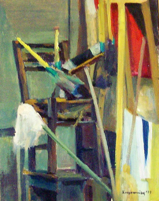 Synthesis With A Chair  Painting by George Siaba