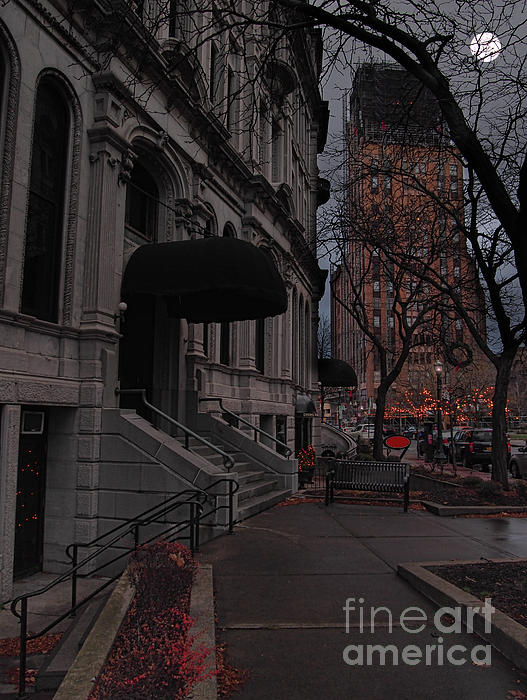 Hanover Square Photograph - Syracuse At Night by Debra Millet