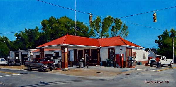 Store Painting - T. R. Lee Service Station by Doug Strickland