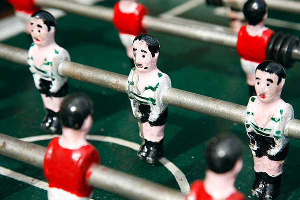 Table Soccer Photograph - Table Soccer by Gaspar Avila