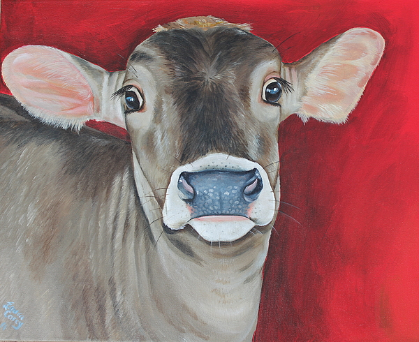 Brown Swiss Painting - Taffy by Laura Carey