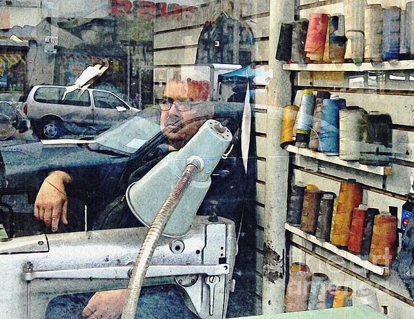 Man Photograph - Tailor Shop by Sarah Loft