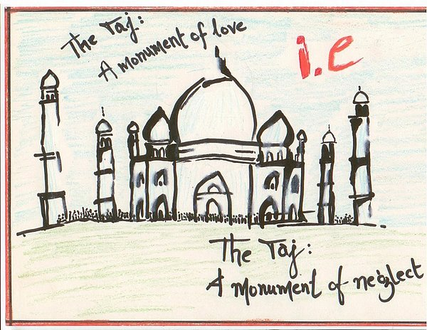 Taj Mahal Drawing by Surabhi Dave