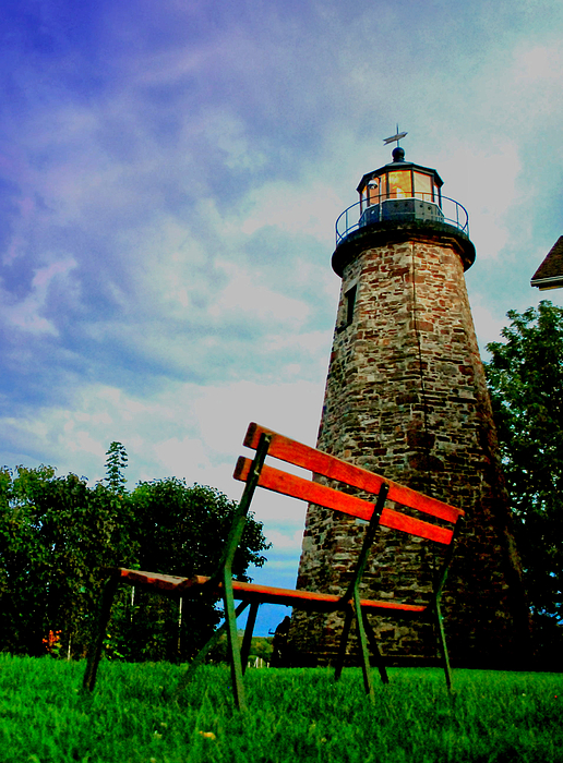Lighthouse Photograph - Take A Seat by Emily Stauring