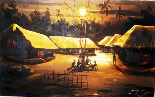 Moonlight Painting - Tales By Moonlight by Eziagulu Chukwunonso