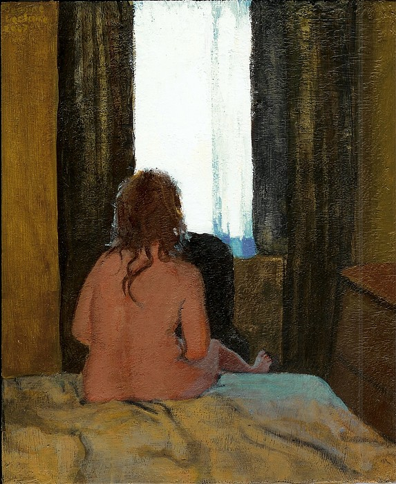 Female Painting - Talking With Daddy by Jeanine Leclaire