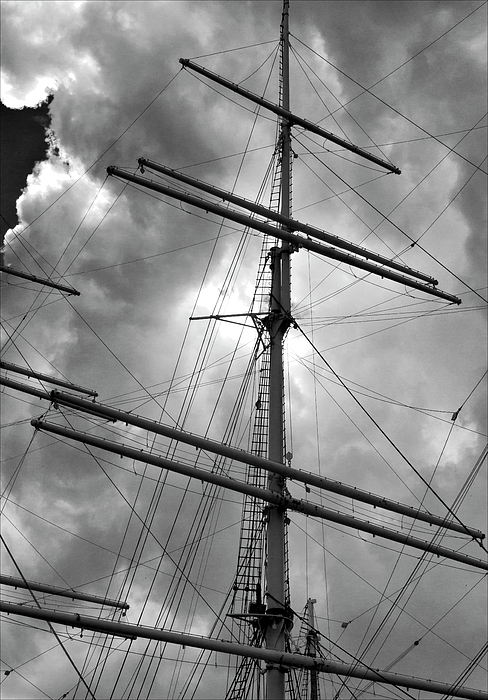 Masts Photograph - Tall Ship Masts by Robert Ullmann