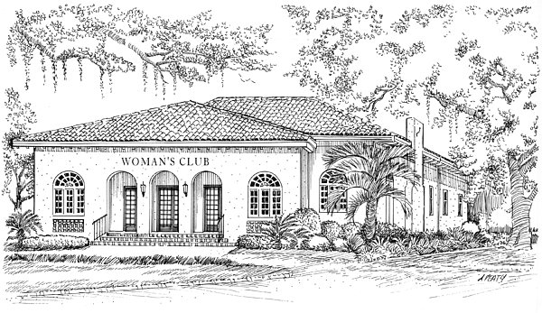 Women Painting - Tallahassee Womens Club by Audrey Peaty