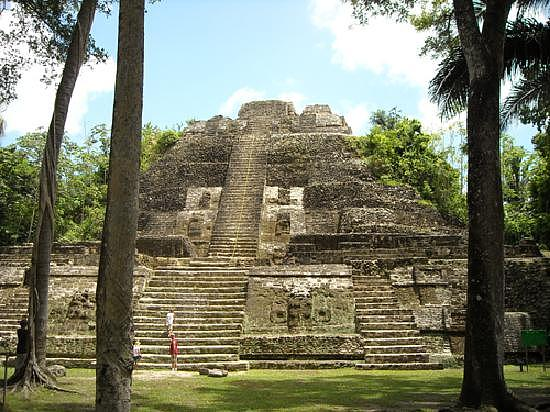 Architecture Photograph - tallest Mayan temple in Belize by Georgina Brandt