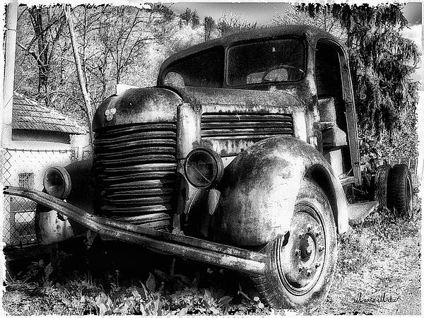 Tam Photograph - Tam Truck Black And White by Marko Mitic