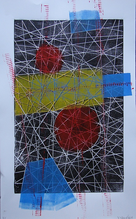 Tangentes 3 Painting by X Scherenberg