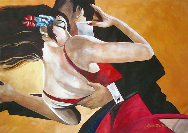 Dance Painting - Tango by Lelia DeMello