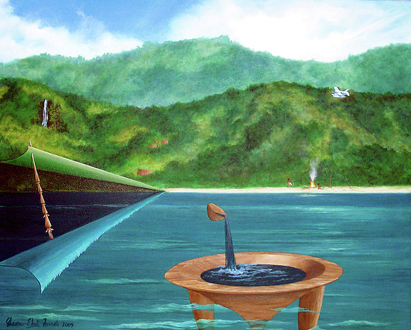 Tanoa Painting - Tanoa Spear Plane by Sharon Ebert