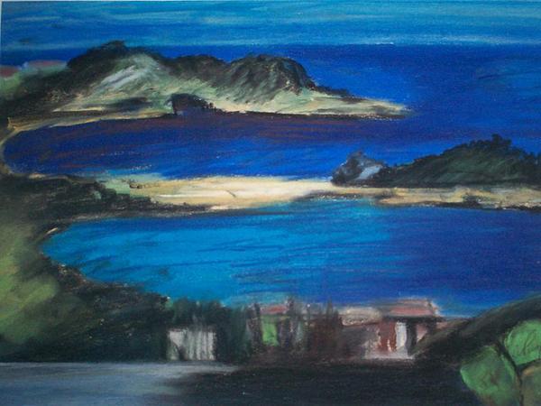 Coastal Pastel - Taormina Veduta by Angela Puglisi