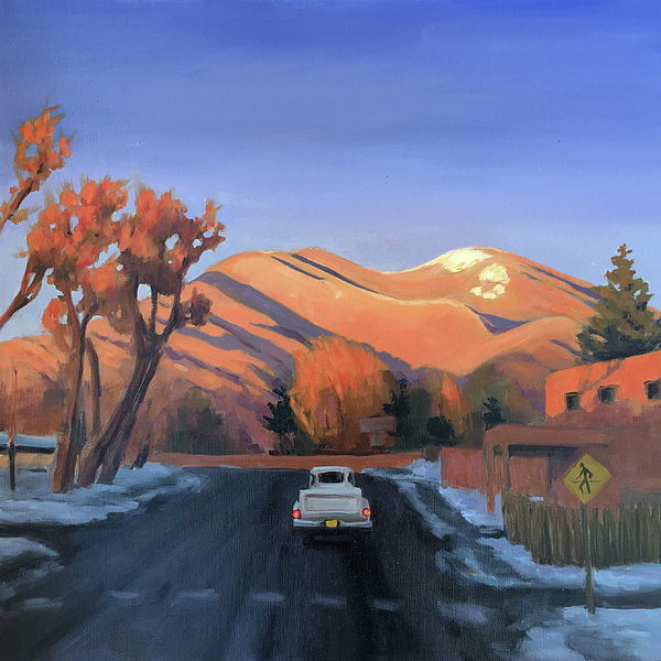 Taos Painting - Taos In The Golden Hour by Elizabeth Jose