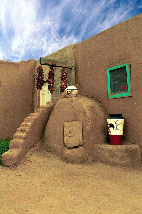 Pueblo Photograph - Taos Oven by Jerry McElroy