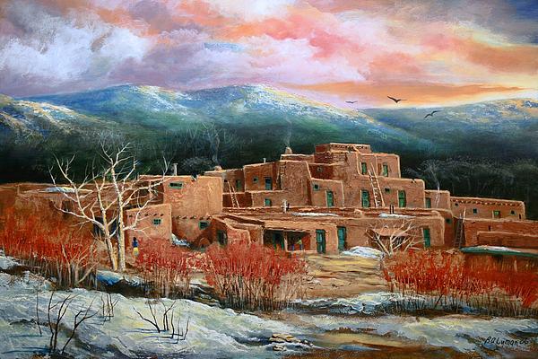 Landscape Painting - Taos Pueblo by Brooke lyman