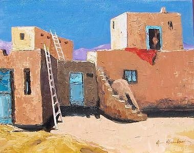 Painting Painting - Taos Pueblos by Stan  Sternbach