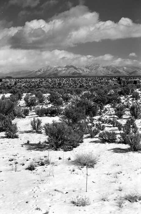 Snow Photograph - Taos Snowfall by Susan Chandler