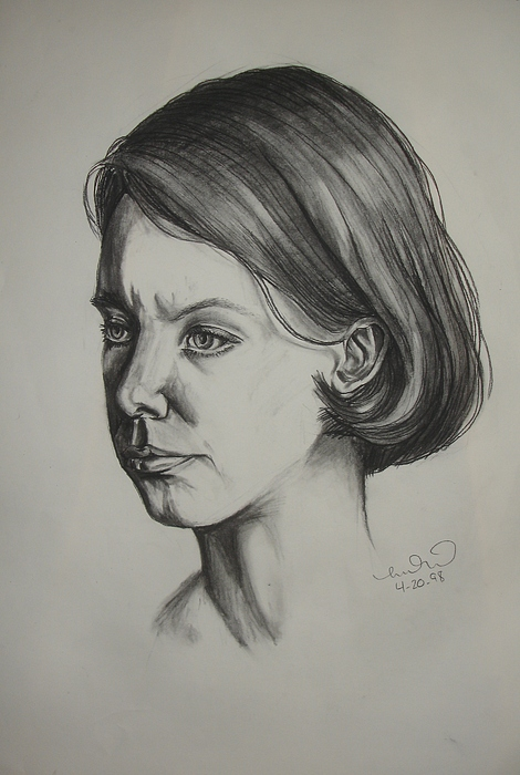 Portrait Drawing - Tara by Melissa Dzierlatka