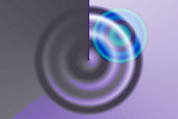 Abstract Digital Art - Targe Cool Blue by Susan Baker