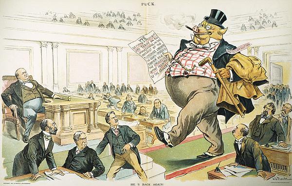 1897 Photograph - Tariff Lobbyist, 1897 by Granger