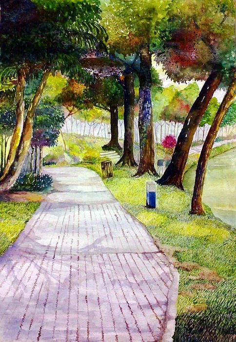 Tasik Shah Alam 1 Painting by Ezjwa  Sofiaz
