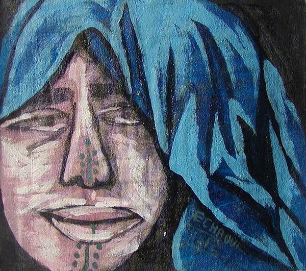 Tatouage 02  2007 Painting by Halima Echaoui