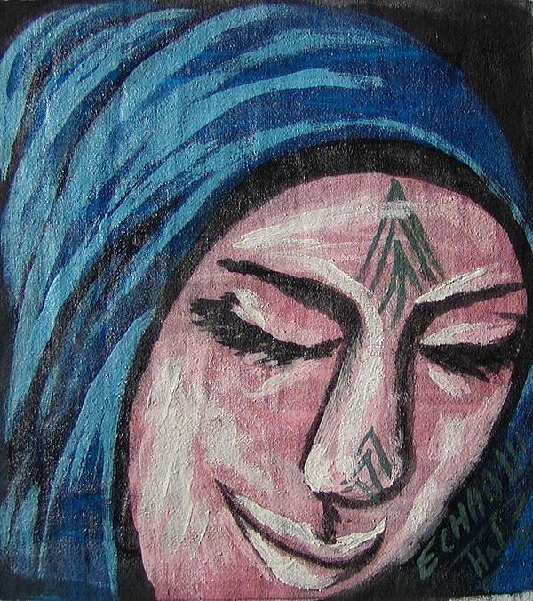 Tatouage 09  2007 Painting by Halima Echaoui
