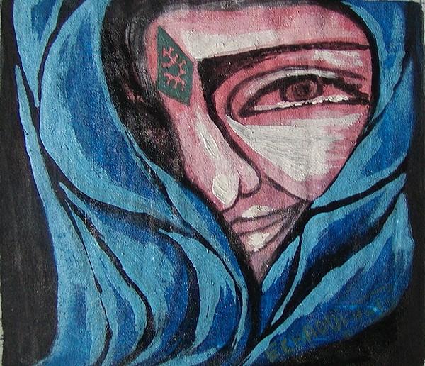 Tatouage 10  2007 Painting by Halima Echaoui