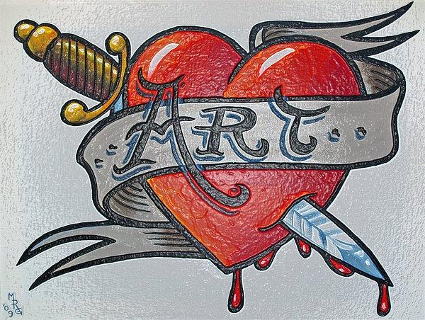 Tattoo Painting - Tattoo Style Art 2 by Martin Girolami