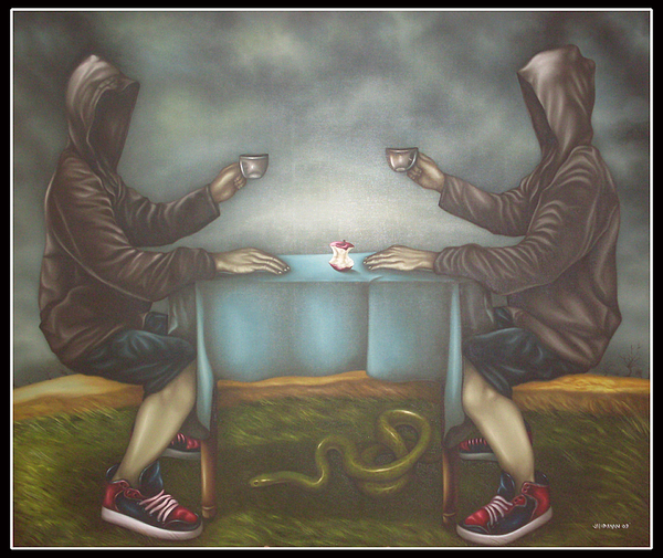 Tea Painting - Tea Time Of The Hollows by Joselito Jandayan