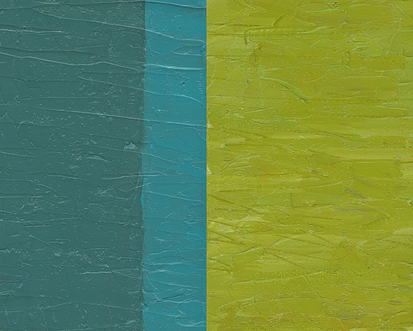 Paint Painting - Teal And Olive  by Michelle Calkins