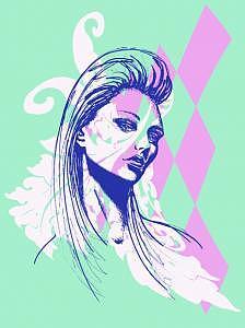 Fashion Illustration Digital Art - Teal by Lara Wolf