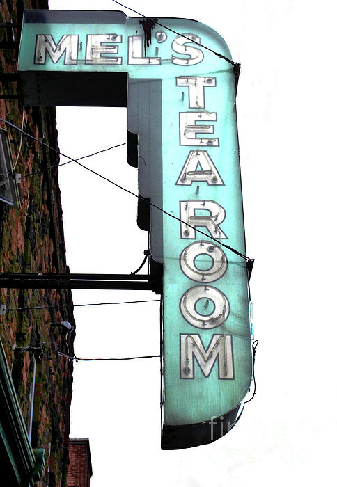 Sign Photograph - Tearoom Sign by Ethna Gillespie