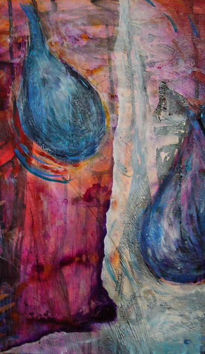 Abstract Painting - Tears Of Love by Tracey Flanigan