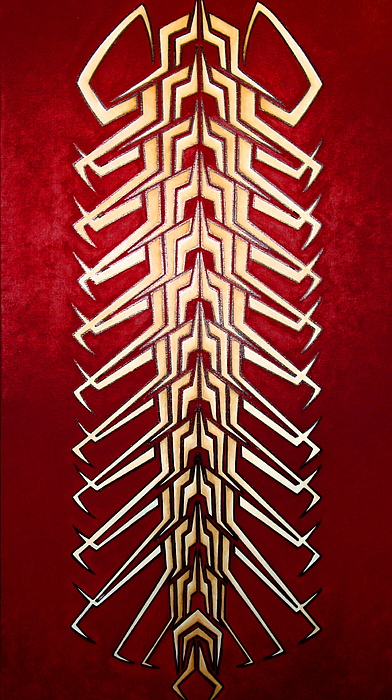 Tribal Painting - Technopede 3 by Stefan Johnson