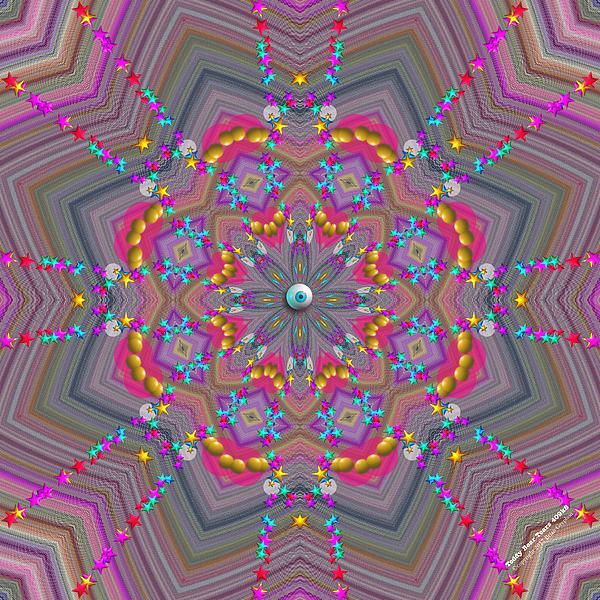 Abstract Digital Art - Teddy Bear Tears 409k8 by Brian Gryphon