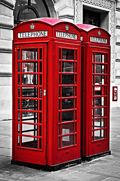 London Photograph - Telephone Boxes In London by Elena Elisseeva