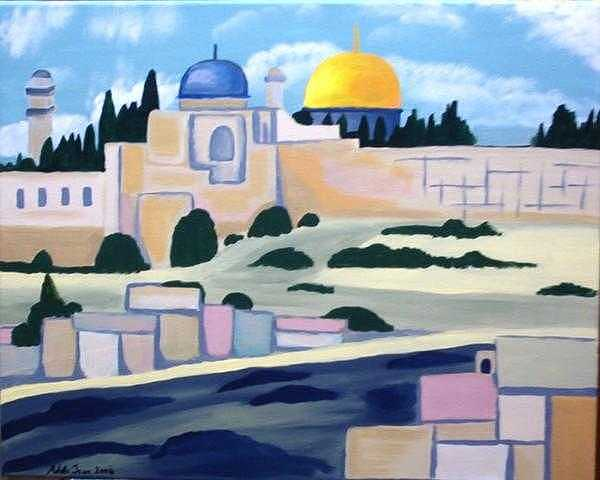 Temple Mount Painting by Adelle John