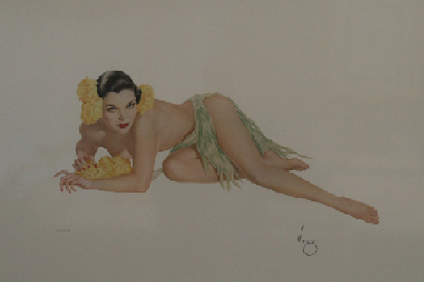 Alberto Vargas Mixed Media - Temptation by Alberto Vargas