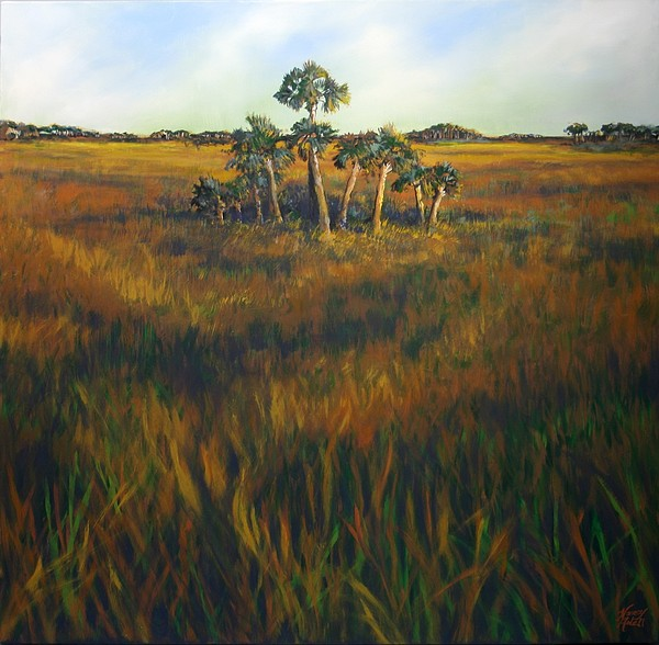 Landscape Painting - Ten Palms by Michele Hollister - for Nancy Asbell