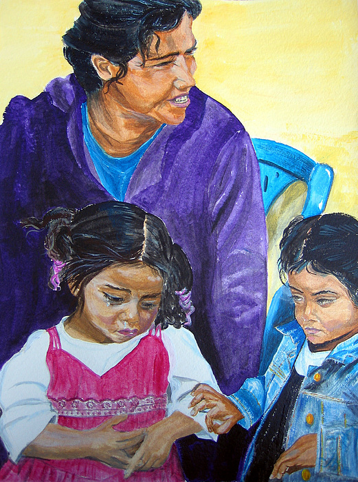 Matagalpa Painting - Tender Moment Of Compassion by Sarah Hornsby